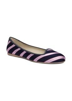Brooks Brothers Silk Tie Striped Ballet Flat