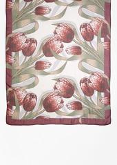 Brooks Brothers Silk Tulip Oblong Scarf