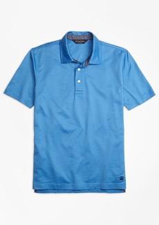 Brooks Brothers Slim Fit Jacquard Stripe Self-Collar Polo Shirt
