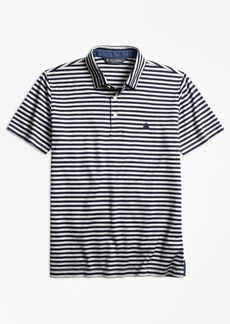 Brooks Brothers Slim Fit Stripe Self-Collar Polo Shirt
