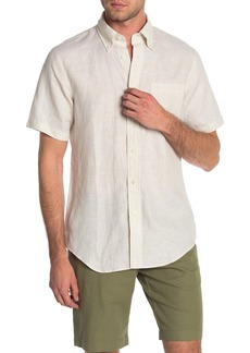 Brooks Brothers Sol Short Sleeve Linen Slim Fit Shirt
