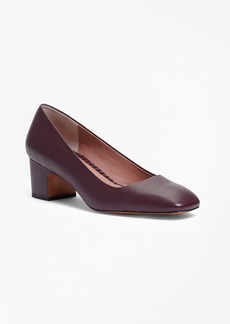 Brooks Brothers Square-Toe Leather Pumps