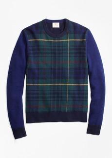 Brooks Brothers Stewart Hunting Tartan Wool-Blend Sweater