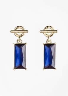 Brooks Brothers Stone-Drop Toggle Earrings