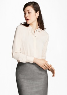 Brooks Brothers Stretch Silk Georgette Blouse