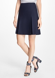 Brooks Brothers Stretch Wool Inverted-Pleat Skirt