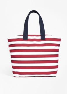 Brooks Brothers Stripe Canvas Tote Bag