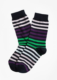 Brooks Brothers Stripe Crew Socks
