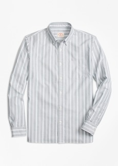 Brooks Brothers Stripe Oxford Cotton Sport Shirt