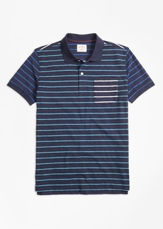 Brooks Brothers Stripe Slub Cotton Fun Polo Shirt