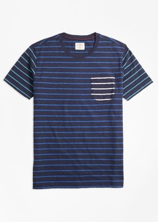 Brooks Brothers Stripe Slub Cotton Fun T-Shirt