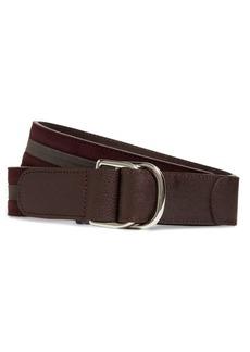 Brooks Brothers Stripe Suede D-Ring Belt