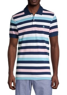 Brooks Brothers Striped Cotton Polo