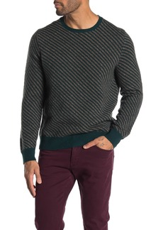 Brooks Brothers Striped Crew Neck Wool Blend Sweater