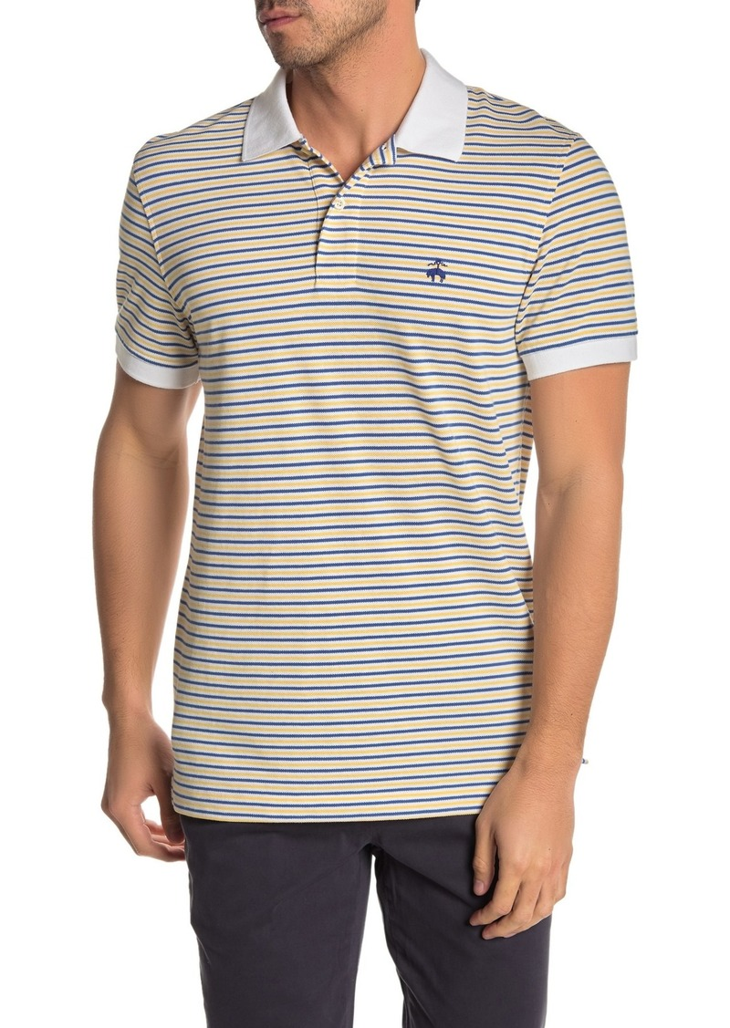 Brooks Brothers Striped Slim Fit Pique Polo