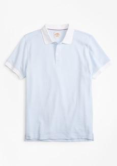 Brooks Brothers Striped Textured Cotton Jacquard Polo Shirt