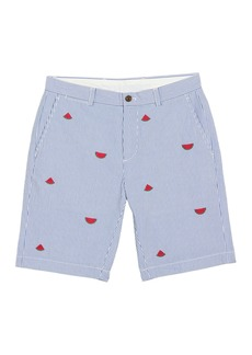 Brooks Brothers Striped Watermelon Embroidered Seersucker Shorts