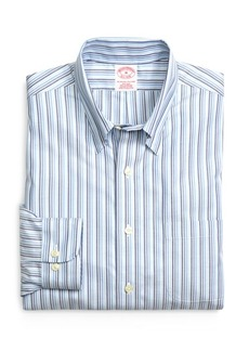 Brooks Brothers Supima® Cotton Non-Iron Regular Fit Tonal Stripe Twill Sport Shirt