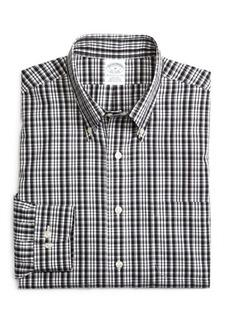 Brooks Brothers Supima® Cotton Non-Iron Slim Fit Sidewheeler Check Sport Shirt