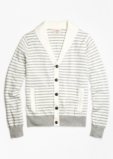 Brooks Brothers Supima® Cotton Stripe Cardigan