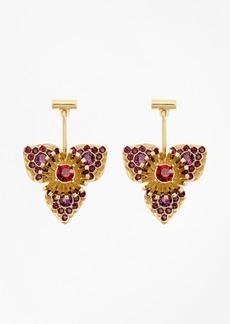 Brooks Brothers Swarovski Crystal Floral Drop Earrings