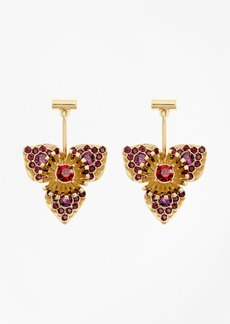 Brooks Brothers Swarovski Crystal Floral Drop Earrings