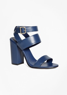 Brooks Brothers Tall Ankle-Strap Sandals