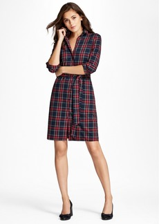 Brooks Brothers Tartan Cotton Flannel Shirt Dress