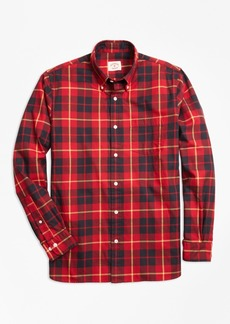 Brooks Brothers Tartan Cotton Flannel Sport Shirt