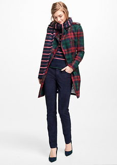 Brooks Brothers Tartan Wool-Blend Trench Coat