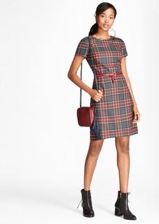 Brooks Brothers Tartan Wool Twill Shift Dress