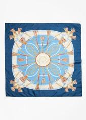 Brooks Brothers Tassel-Print Silk Square Scarf