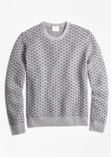 Brooks Brothers Textured Wool-Blend Sweater