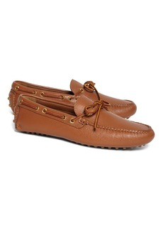 Brooks Brothers Tie Driving Moccasins