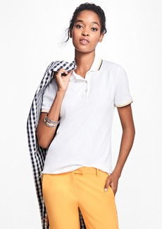 Brooks Brothers Tipped Cotton-Blend Pique Polo