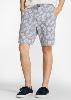 Brooks Brothers Tropical Print Cotton Twill Shorts