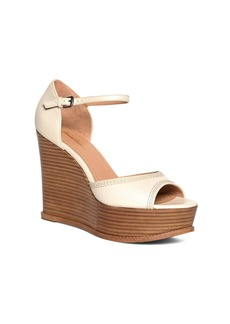 Brooks Brothers Tumbled Calfskin Stacked Wedges