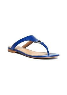 Brooks Brothers Tumbled Calfskin Thong Sandals