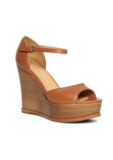 Brooks Brothers Tumbled Calfskin Wedge Heels