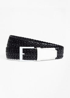 Brooks Brothers Two-Tone Woven Leather Belt