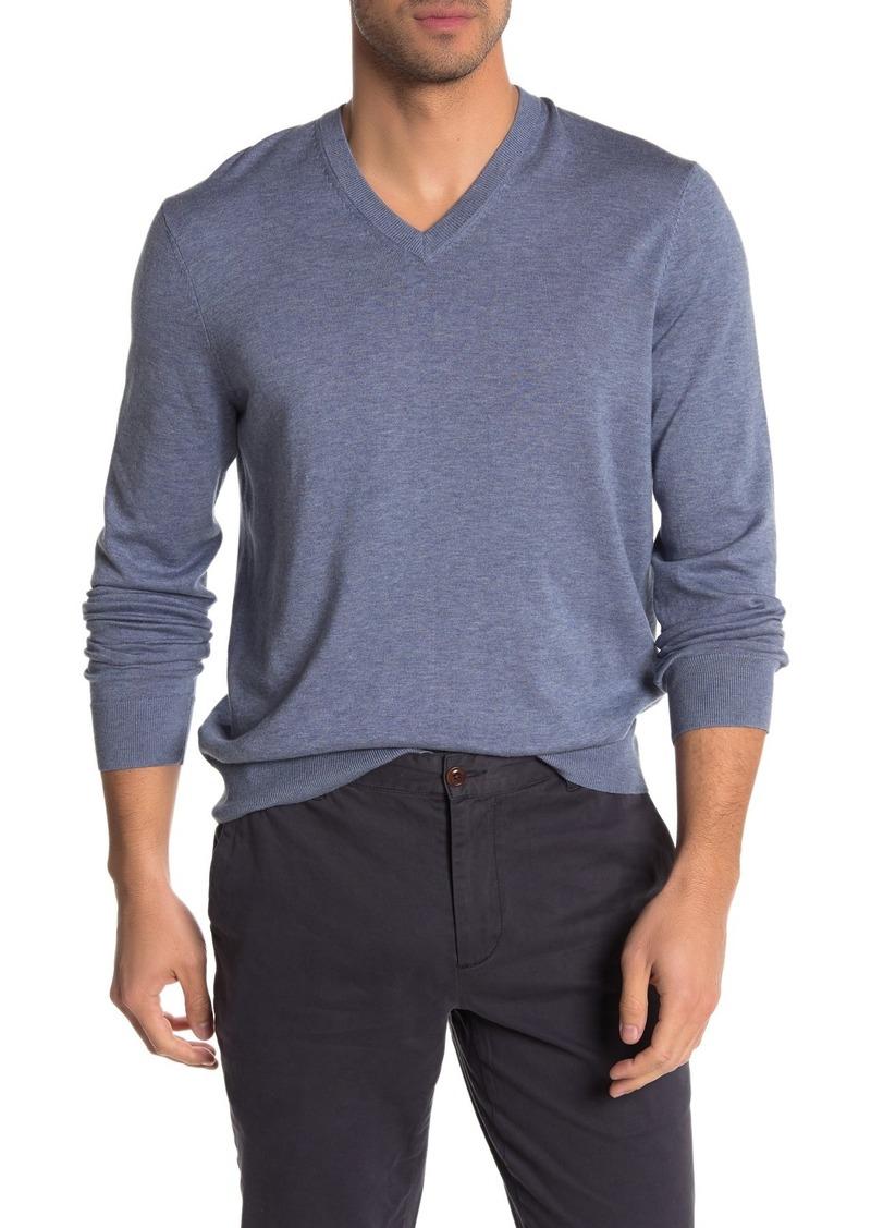 Brooks Brothers V-Neck Jersey Knit Sweater