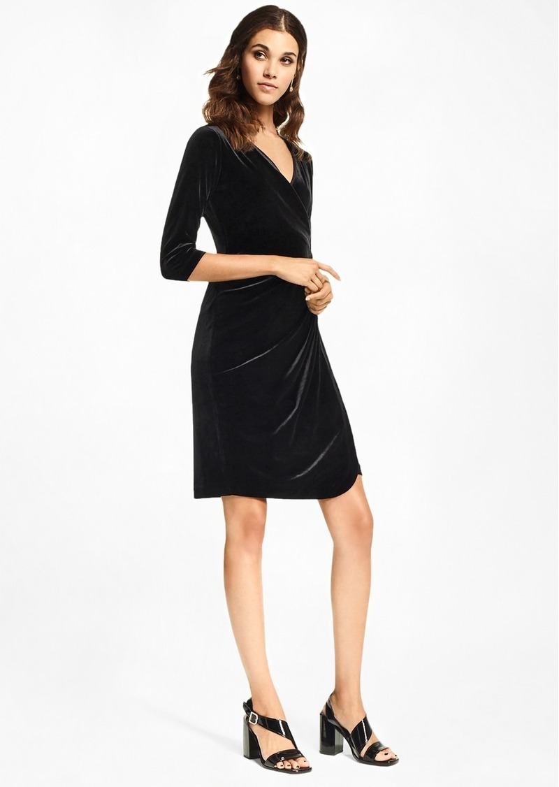 Sale Brooks Brothers Velvet Faux Wrap Dress Shop It To Me