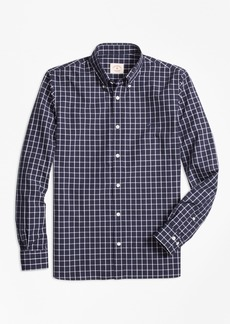 Brooks Brothers Windowpane Broadcloth Sport Shirt