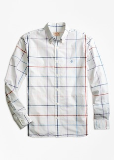 Brooks Brothers Windowpane Cotton Poplin Sport Shirt