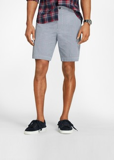 Brooks Brothers Windowpane Cotton Seersucker Shorts