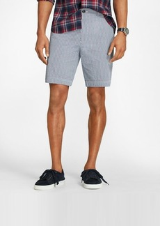 Brooks Brothers Windowpane Cotton Seersucker Shorts