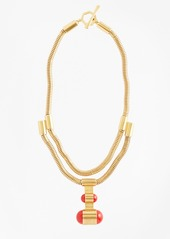 Brooks Brothers Gold-Plated Coil Pendant Necklace