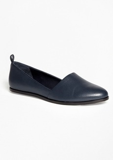 Brooks Brothers Leather Round-Toe Flats