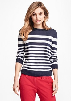 Brooks Brothers Striped Linen Sweater
