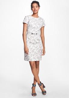 Brooks Brothers Floral Cotton Poplin Dress